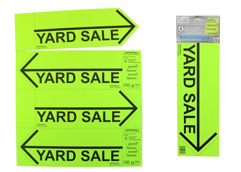 ARROWSigns Green Yard Sale Signs