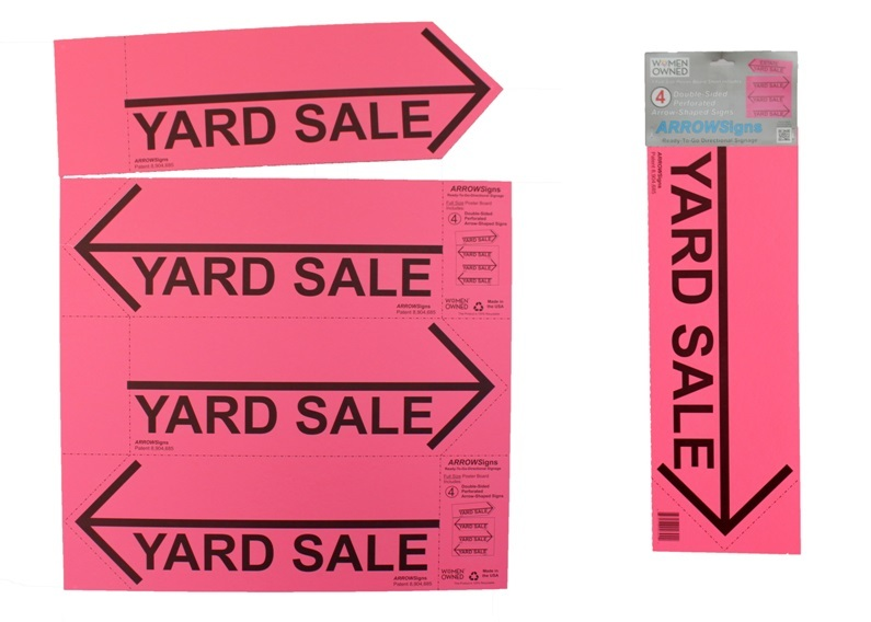 ARROWSigns Pink Yard Sale Sign