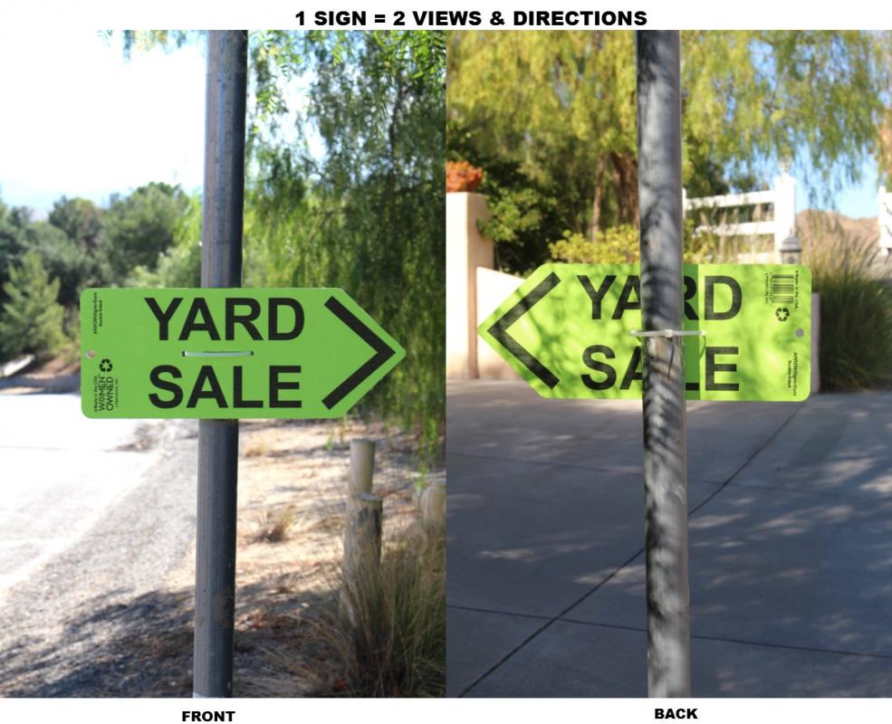 ARROWSigns-Dura-Green-Yard-Sale-Sign-In-Use