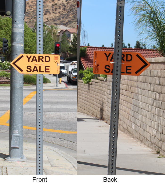 ARROWSigns-Dura-Orange-Yard-Sale-Sign-In-Use
