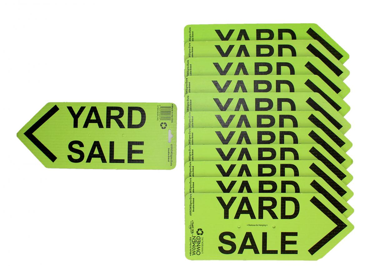 ARROWSigns-DuraGreenYardSaleSigns-Case-of-12