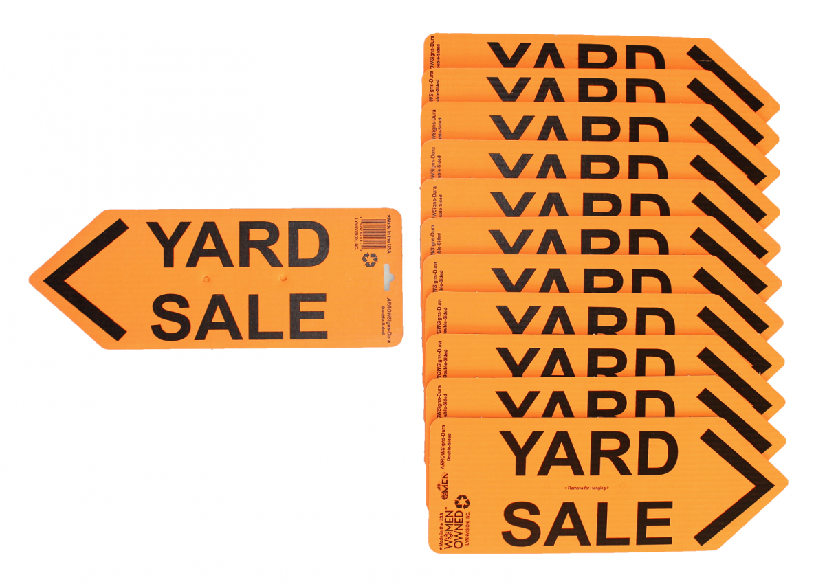 ARROWSigns-DuraOrangeYardSaleSigns-Case-of-12